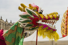 Dragon parade in Krakow Royalty Free Stock Images