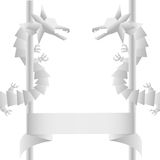 Dragon pattern. The Dragon pattern by Origami Stock Illustration