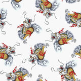 Dragon pattern. I designed an Oriental dragon Royalty Free Stock Image