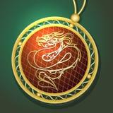 Dragon Pendant ilustração royalty free