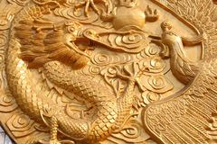 Dragon and Phoenix Royalty Free Stock Image