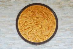 Dragon and phoenix decorative patterns Stock Photos