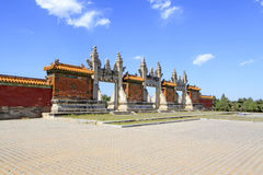Dragon and Phoenix Gate in the Eastern Royal Tombs of the Qing D Stock Photography