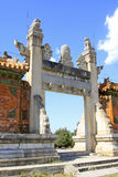 Dragon and Phoenix Gate in the Eastern Royal Tombs of the Qing D Stock Image
