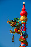 Dragon on Pillar Stock Photography
