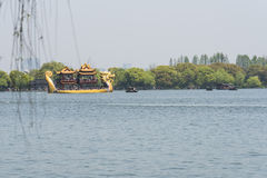 Dragon pleasure-boat Stock Images