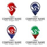 Dragon Point Concept Logo Fotografía de archivo