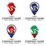 Dragon Point Concept Logo Stock Photography