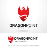 Dragon Point Logo Template Design Vector Royalty Free Stock Photography