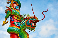 The Dragon Pole royalty free stock photography