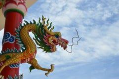 Dragon pole Royalty Free Stock Photos