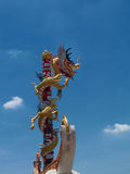Dragon pole Stock Image