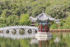 Dragon Pool noir, Lijiang Chine Photos libres de droits