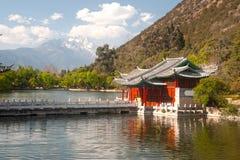 Dragon Pool preto em Lijiang, Yunnan de China. foto de stock royalty free
