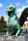 Dragon portrait at Zmajski Most Stock Photo