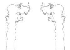 Dragon Post Path illustration libre de droits