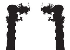 Dragon Post Silhouettes Stock Photography