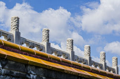 The Dragon Posts of Temple of Heaven, Beijing Stock Photo