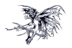 Dragon préhistorique Photographie stock