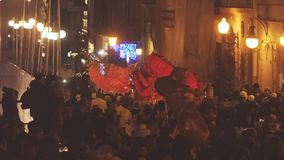 Dragon Procession Celebrating New Year