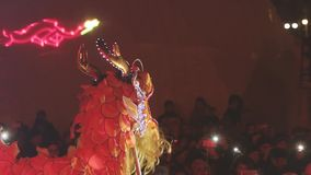 Dragon Procession Celebrating New Year lager videofilmer