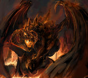 Dragon rage. Molten dragon rage at vulacno Stock Photography