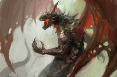 Dragon rage royalty free illustration