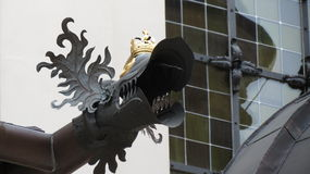 Dragon Rain Gutter Royalty Free Stock Photo