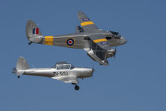 Dragon Rapide and Chipmunk formation Royalty Free Stock Images