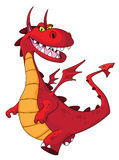 Dragon red. Illustration of a dragon red Stock Images