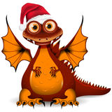 Dragon in red cap Stock Image