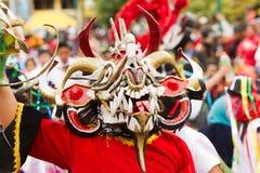 Dragon Red Costume mítico Imágenes de archivo libres de regalías