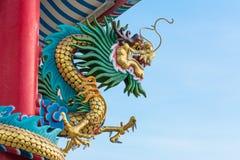 Dragon on red pillar Royalty Free Stock Photo
