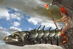 Dragon Rider Stock Image