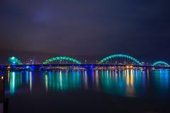 Dragon River Bridge Rong Bridge no Da Nang foto de stock
