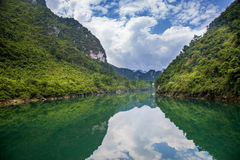 The Dragon River scenery,Hechi,China Stock Photography