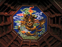 Dragon roof. Of the mufu palace Stock Photography