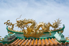 Dragon on roof royalty free stock images