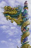 Dragon on roof at chinese temple,thailand Stock Photos