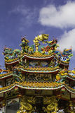 Dragon on roof at chinese temple,thailand Royalty Free Stock Photos