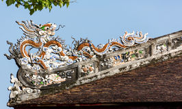 Dragon Roof Royalty Free Stock Photography