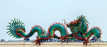 Dragon on roof Stock Images
