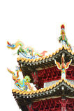 Dragon on the roof of the temple, Taipei Stock Images