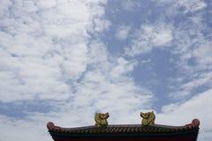 Dragon roof Stock Image