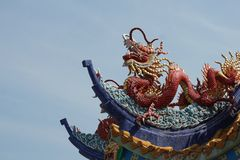 Dragon on the rooftop Royalty Free Stock Photos