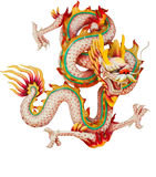 Dragon rose d'isolement sur le blanc Photos stock