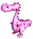 Dragon rose de chéri s'inquiétant pour Image libre de droits