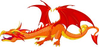 Dragon rouge Images stock