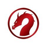 Dragon rouge Images libres de droits