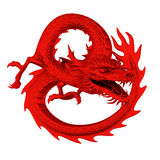 Dragon rouge Image stock